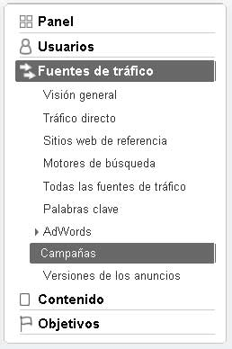 ga inform Tutorial sobre Google Analytics: 3. Etiquetado o Tagging en campañas de Marketing